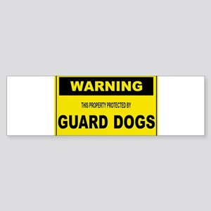 GUARD DOGS Bumper Sticker